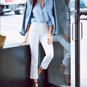 J Crew Billie Boot Crop White Jeans 29
